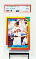 1990 Topps Traded Atlanta Braves DAVID JUSTICE Rookie Baseball Card PSA 9 MINT