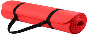 Exercise Yoga Mat High Density Foam Non-Slip Anti-Tear with Carrying Strap