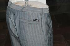Mens Stromberg golf trousers 34S W34 L29 Pants Grey Pinstripe