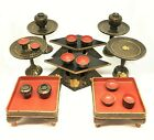 Meiji Period 1868 1912 Japanese Child s Lacquerware Tea Set Hina Doll Miniatures