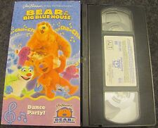 VHS Bear in the Big Blue House - Dance Party (VHS, 2002)