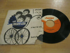 "7"" Single The Beatles It Won't be long Vinyl AMIGA DDR 4 50 493   !! RAR !!"