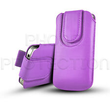 BUTTON CLOSE LEATHER PULL TAB CASE COVER POUCH FOR VARIOUS ALCATEL PHONES