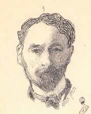 Portrait Edmond Aman-Jean Chevry-Cossigny Peintre Peinture