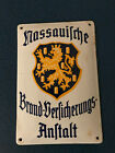 VTG German Fire Insurance Sign Nassauische Brand-Versicherungs Anstalt Metal