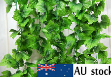 82FEET ARTIFICIAL GRAPE VINE FAUX GARLANDS FAKE LEAF IVY FOLIAGE YARD WEDDING