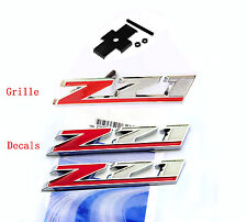 3x   OEM Red Grille Z71 Emblem +Decal Z71 3D for GM Silverado Sierra Tahoe  n Lu