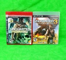 PS3 - Uncharted & Uncharted 3 - (2) Playstation 3 Games.....................M36