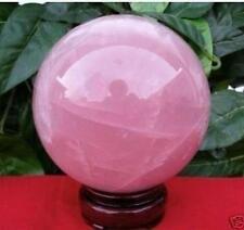 nature collection quartz rose sphère boule de cristal + stand, taille: 50 mm