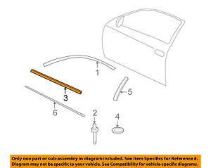 Chevrolet GM OEM Door-Window Sweep Belt Molding Weatherstrip Left 10317933