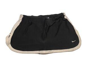 Nike Dry Fit Golf Skirt Skirt Lined Size L 12-14 Black White Tennis