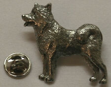 Alaskan Malamute Dog Fine Pewter Pin Jewelry Art Usa Made