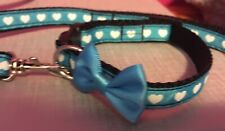 Small Chihuahua Dog Collar And Matching Lead For Small Dogs.