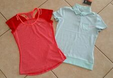 EUC/NWT Lot 2 Women's S/Girl's XL NIKE DRI-FIT Golf Running Tennis Tops Shirts