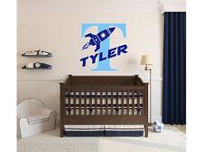 Rocket Name Wall Decal Monogram #2 Boys Nursery Room Vinyl Wall Graphics Bedroom