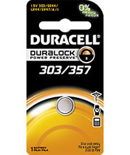 Duracell 357 Silver Oxide Battery for HP-17BII, HP-20S, HP-32SII, HP-15c, more.