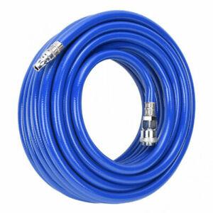 "15M Air Compressor Pipe Hose Line Pneumatic PVC Quick Connector 1/4"" MNPT HJ"