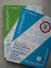 2 Bücher 92.+93. Briefmarken-Auction Postal History of Sweden Russian Empire