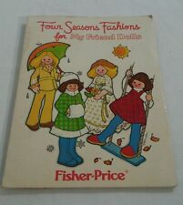 Vintage Fisher Price four seasons fashion for friend dolls pattern book