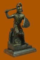 Japanese Warrior With Sword Figurine Art Deco Bronze Sculpture Statue Decorative