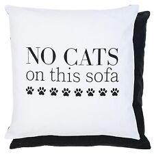clayre eef Funda de cojín Cojín N º Cats nostalgía Shabby 50 50cm Negro