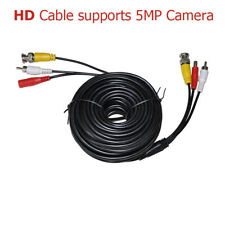 HD 60 Feet Black BNC Premade Cable With Audio for CCTV Security Camera up to 5MP