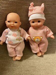 "2 X Chubby Mini Baby Dolls 5"""
