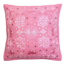 Indian Star Moon Embroidered Cushion Cover Decorative Cotton Pillow Case Cover