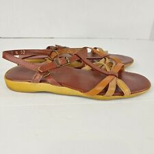 vintage famolare womens sandals style wave there size 8N buckle close ankle