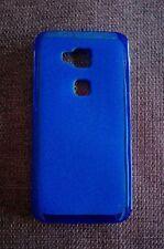 Custodia Cover Case Matt per Huawei Ascend G8 GX8 silicone blu trasparente opaco