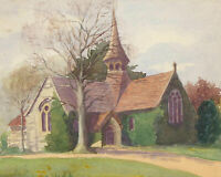 E.E.H. - Pair of Early 20th Century Watercolours, Landscape View with Church