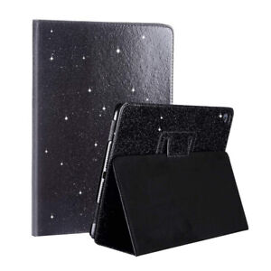 For Apple iPad mini 1 2 3 - Magnetic Leather Stand Case Folding Glitter Cover UK