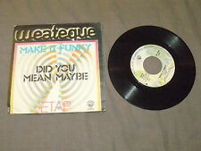 """ETAP """"MAKE IT FUNKY/DID YOU MEAN MAYBE"""" 7"""" WB 1976 Ita"""