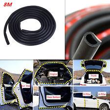 Car Rubber 8M D-Shape Seal Strip Mat Weather Sealing Flexibility Trim Flat Pad