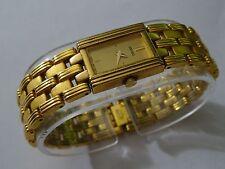 Seiko Vintage Womens Gold-Tone Thin Profile Analog Watch V400-6439