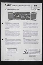 Saba CD Combinaison CDC 695 L'INSTRUCTION DE SERVICE/manuelle/Diagram/