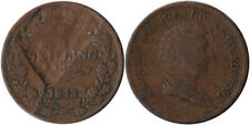 1843 Sweden 2/3 Skilling Indent & Double Strike Errors Coin KM#641