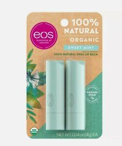 eos Natural & Organic Lip Balm Stick - Sweet Mint - 2pk/0.28oz