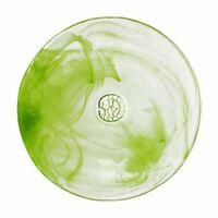 Kosta Boda Mine Serveware GlassSalad PlateLime GreenMarble Swirl Design