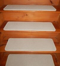 "14 = Step  9"" x 30""  Stair Treads  Wool 100 % Woven carpet ."