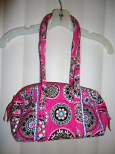 "NWOT VERA BRADLEY pink paisley quilted travel design tote bag 10""W x 7""H x 4""D"