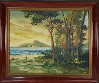 RURAL LANDSCAPE. OIL ON CANVAS. RAMON LARROSA. 1950