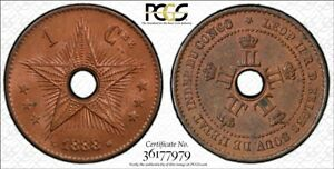 CONGO Free State 1888 1 Centime PCGS MS63RB