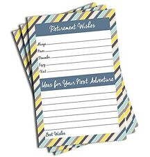 NEW Retirement Well Wish and Advice Cards 50 cards FREE SHIPPING