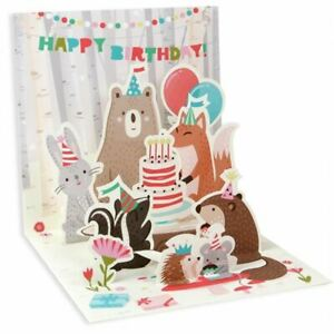 Pop-Up Greeting Card Trearures by Up With Paper - Woodland Animals