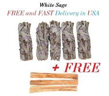 BEST DEAL - BUY 5 Stick White Sage Smudge Wand and GET FREE 3 Palo Santo Wood