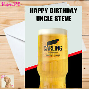 Personalised Carling Card Birthday Unofficial Beer Drink Pub Pint Lager Alcohol
