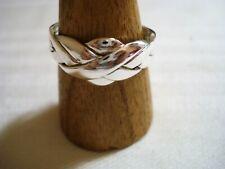 anello puzzle fede turca originale 4 fili vero argento 925  gioiello misura 28