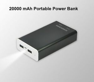 20000mAh Lithium Polymer Portable Power Bank for iPhone, Samsung, Android Phones