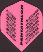 Pink '01 Outchart Dart Flights: 3 per set